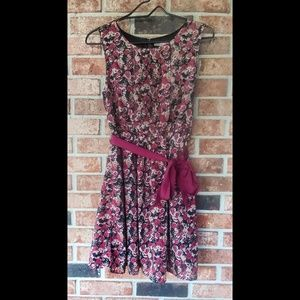 3/$20 F21 Contemporary Fall Rose Floral Dress S